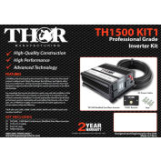 THOR TH1500 KIT1, TH1500&TH001 remote with 10 ft of 1/0 cable and lugs