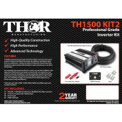 THOR TH1500 KIT2, TH1500&TH001 remote with 10 ft of 1/0 cable with 150 amp fuse