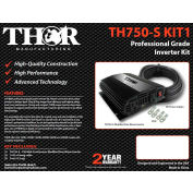 THOR TH750-S KIT1, TH750-S with 10 ft of 4awg cable and lugs