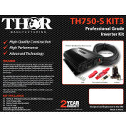 THOR TH750-S KIT3, TH750-S with 10 ft of 4awg cable with 80 amp fuse and 80 amp isolotor