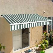 "Awntech CAM10-GW Retractable Awning Manual 10'W x 7""H x 8'D Gray/White"