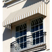 "Awntech CN34-8LW, Window/Entry Awning 8' 4 -1/2""W x 4'D x 3' 8""H Linen/White"