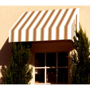 "Awntech CN34-8WLTER, Window/Entry Awning 8' 4 -1/2""W x 4'D x 3' 8""H White/Linen/Terra Cotta"