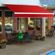 """Awntech DTR18-35-R, Retractable Awning Right Motor 18'W x 10'D x 10""""H Red"""