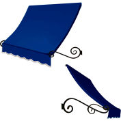 Awntech ECH1836-3BB Window/Entry Awning 3-3/8'W x 1-1/2'H x 3'D Bright Blue