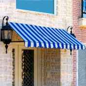 Awntech ER2442-3BBW, Window/Entry Awning 3-3/8'W x 2'H x 3-1/2'D Bright Blue/White