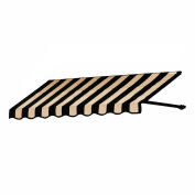 "Awntech ER2442-4KT, Window/Entry Awning 4' 4-1/2"" W x 3' 6""D x 2'H Black/Tan"