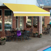"""Awntech KWM16-587-Y, Retractable Awning Manual 16'W x 10'D x 10""""H Yellow"""