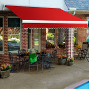 "Awntech MM10-35-R, Retractable Awning Manual 10'W x 8'D x 10""H Red"