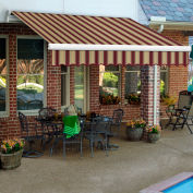"Awntech MM10-398-BTM, Retractable Awning Manual 10'W x 8'D x 10""H Burgundy/Tan"