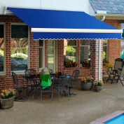 "Awntech MM10-7-BB, Retractable Awning Manual 10'W x 8'D x 10""H Blue"