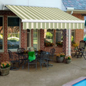 "Awntech MM10-899-SLCR, Retractable Awning Manual 10'W x 8'D x 10""H Sage/Cream"