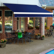 """Awntech MM12-77-N, Retractable Awning Manual 12'W x 10'D x 10""""H Navy/Gray/White"""