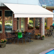 """Awntech MM16-EXE-OAT Retractable Awning Manual 16'W x 10""""H x 10'D Oatmeal Tweed"""