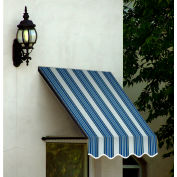 Awntech SANT21-4NGW Window/Entry Awning 4-3/8'W x 2-9/16'H x 1'D Navy/Gray/White
