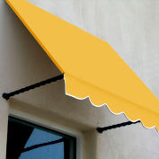 Awntech SANT22-10LY Window/Entry Awning 10-3/8'W x 2-9/16'H x 2'D Light Yellow