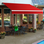"""Awntech SCR16-35-R, Retractable Awning Right Motor 16'W x 10'D x 10""""H Red"""