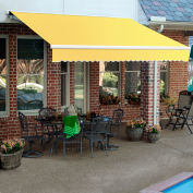 """Awntech SCR16-587-LY, Retractable Awning Right Motor 16'W x 10'D x 10""""H Light Yellow/White"""