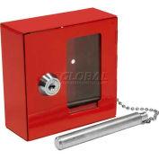 "Barska Breakable Emergency Key Box with Attached Hammer B Style, 3-15/16""W x 1-9/16""D x 3-15/16""H"