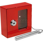 "Barska Breakable Emergency Key Box with Attached Hammer B Style, 3-15/16""W x 1-9/16""D x 3-15/16""H"