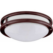 "Amax Lighting LED-JR002BRZ 14"" LED 2 Ring Ceiling Fixture, 20W, 4000 CCT, 1660 Lumen, 82 CRI, Bronze"