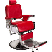 AYC Group Lincoln Vinyl Barber Chair - Red