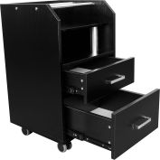 AYC Group Glasglow Salon Pedicure Trolley - Black