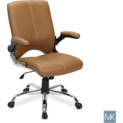 AYC Group Versa Customer Salon Chair - Vinyl-Leather - Cappuccino