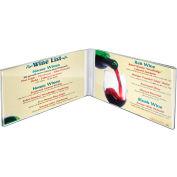 """Azar Displays 107723, Acrylic Dual Frame Sign HLR, 7""""W x 5""""H, CLR, 10-Pack"""
