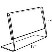 "Azar Displays 112709 Horizontal Slanted L-Shaped Acrylic Sign Holder, 17"" x 11"" , 10-Pack"