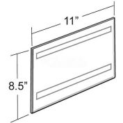 "Azar Displays 122022 Horizontal Wall Mount Sign Holder W/ Adhesive Tape, 11"" x 8.5"" - Pkg Qty 10"