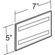 """Azar Displays 122028 Horizontal Wall Mount Sign Holder W/ Adhesive Tape, 7"""" x 5"""" , 10-Pack"""