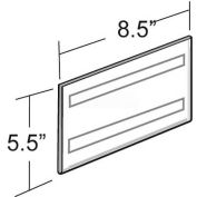"Azar Displays 122030 Horizontal Wall Mount Sign Holder W/ Adhesive Tape, 8.5"" x 5.5"" , 10-Pack"