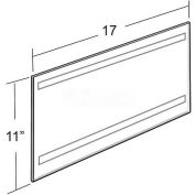 "Azar Displays 122037 Horizontal Wall Mount Sign Holder W/ Adhesive Tape, 17"" x 11"" - Pkg Qty 10"