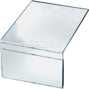 "Azar Displays 142702 Shelf Sign Holder, 6"" x 4"" , 10-Pack"