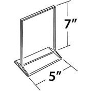 """Azar Displays 142710 Vertical Top Load Acrylic Sign Holder, 5"""" x 7"""" , 10-Pack"""
