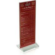 "Azar Displays 142745, Vert Top Load Acrylic Sign HLR, 4.25""W x 11""H, 10-Pack"