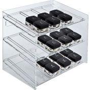 "Azar Displays 222483, 12 Compartment Cosmetic Display, 12""W x 1.5""H x 8""D, CLR, 1 Pc"