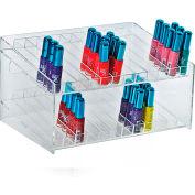 "Azar Displays 222882, 24 Compartment Cosmetic Display, 12""W x 6.5""H x 8.5""D, CLR, 1 Pc"