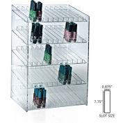 "Azar Displays 222885, 60 Compartment Cosmetic Display, 12""W x 18.5""H x 8.5""D, CLR, 1 Pc"