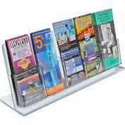 "Azar Displays 222979, Brochure HLR, 22""W x 8.5""H, 5 Pockets, CLR, 1-Pack"