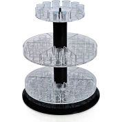 "Azar Displays 225020, 3-Tier Revolving Counter Display W/Tester Tray, 13.5""H, CLR, 1 Pc"
