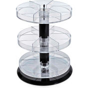 "Azar Displays 226030, 3-Tier Revolving Counter Display, 13.5""W, CLR, 1 Pc"