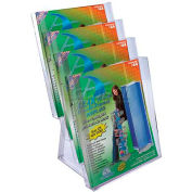 "Azar Displays 252311 4-Tier Letter Size Countertop Brochure Holder, 9"" x 16.5"" , 2-Pack"