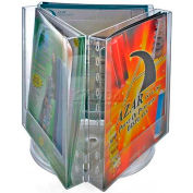 "Azar Displays 252320 3-Pocket Letter Size Brochure Holder On Revolving Base, 9"" Base"