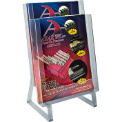"Azar Displays 252333, 2-Tier Modular Counter Brochure HLR, 9""W x 14.5""H, CLR, 2-Pack"