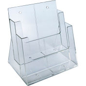 "Azar Displays 252380, Two-Tier Brochure Holder, 9-1/4""W x 5""D x 11-1/4""H"