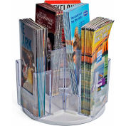 "Azar Displays 252806, Revolving Brochure HLR W/6 Pockets, 4""W x 7""H, CLR, 1-Pack"