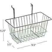 "Azar Displays 300620 Wire Basket 6 1/4""H Chrome  - Pkg Qty 2"