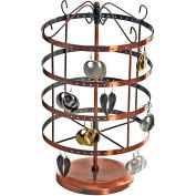 "Azar Displays 300635, Rotating Metal Earring Carousel, 7.75""W x 14""H, Copper, 1 Pc"